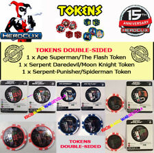 HEROCLIX 3 TOKENS DOUBLE-SIDED AND CARDS:  Serpent and Ape Tokens