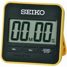 Seiko QHY001Y Yellow Digital Countdown Timer and Stopwatch