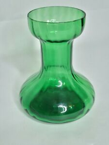Two's Company Green Ribbed Glass Bulb Forcing Starter Vase Hand Blown EUC