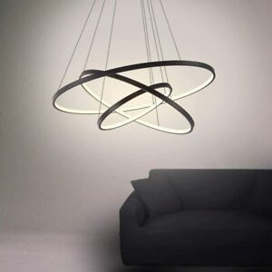 3 Ring Chandelier LED Pendant Home Ceiling Hanging Light Fixture  w/ remote