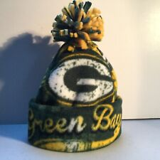 GREEN BAY PACKERS BABY HAT HANDCRAFTED newborn BEANIE CAP FLEECE NFL
