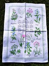 TORCHON CALENDRIER 2006 PLANTES AROMATIQUES THYM BASILIC CORIANDRE SAUGE ANETH