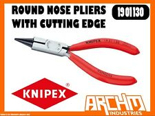 KNIPEX 1901130 ROUND NOSE PLIERS WITH CUTTING EDGE, JEWELLERS PLIERS - 130MM