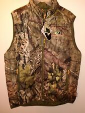 Mens 3M Insulated Water Resistant Vest Camo Mossy Oak Large 40-42 Jacket Hunting