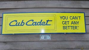 "CUB CADET GARDEN EQUIPIMENT DEALER SALES/SERVICE SIGN/AD 1'X46"" GARAGE ART"