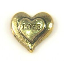 Floating Charms Mini Charm Living Memory Locket Pendant Hearts Gold Love 9mm