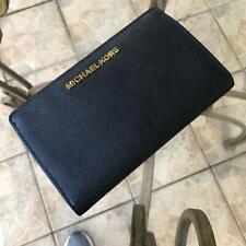 Michael Kors Jet Set 35H8GTVF2L Travel Slim Bifold Wallet - Black
