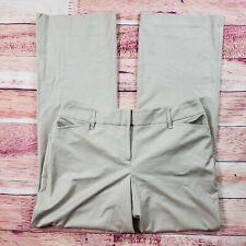 Ann Taylor Loft Julie Trouser Dress Pants Womens SZ 10 Tan Beige High Waist Rise