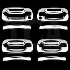 FOR CHEVY CHEVROLET SILVERADO 2000-2006 CHROME 4 DOOR HANDLE COVERS with keyhole