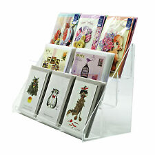 Acrylic 3 Tiered 400mm Greeting Card Display Stand (DS43/400)
