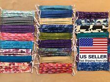 Handmade Usa 100% Cotton Fabric Face Mask Washable Reversible Reusable w/Elastic
