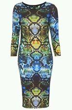 Gorgeous Topshop Snake Print Bodycon Midi Dress size 6 NEW WITH TAGS
