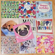 Pack of 10 Male Female Birthday Cards, LADIES MENS OPEN BIRTHDAY CARDS