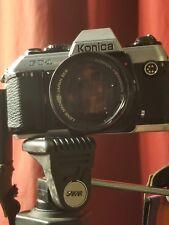 Vintage Konica FT-1 Motor SLR 35mm Black Body Camera With 50mm 1.8 Cool Strap