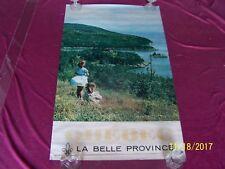 """Original vintage QUEBEC""""1960-70's ROLLED (23.5""""w x 39""""h) travel poster"""