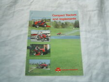 Massey Ferguson MF compact lawn garden tractor and implements brochure