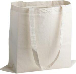 10 x 100% COTTON SHOPPING PLAIN BAGS  ECO FRIENDLY TOTE SHOULDER SHOPPER HANDBAG