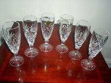 SET OF 6 CUT GLASS CRYSTAL CHAMPAGNE FLUTES CRISTAL D'ARQUES