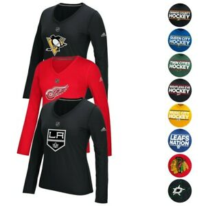 NHL Adidas Women's Climalite Ultimate Tee Long Sleeve T-Shirt Collection