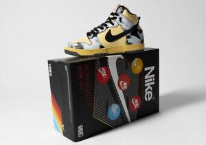 Nike Dunk Hi 1985 SP Size US 9 DD9404-700 Lemon Drop Black Saturn Gold Acid Wash