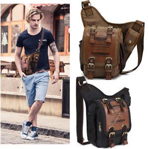 Kaukko Men Canvas Messenger Bag Shoulder Bag Men Tablets Bag Pack Crossbody Bags