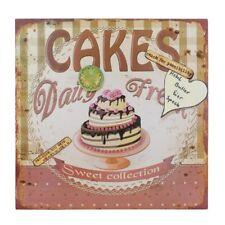 Magnetpinnwand Magnettafel Cakes im Retro-Stil mit Magneten zum Hängen