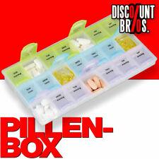 NEU █ Tablettenbox PILLENBOX Wochenbox 3 Fächer – Medikamentenorganizer ENGLISCH