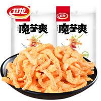 Chinese Food Snacks Weilong Latiao Moyu零食小吃包邮 辣条魔芋丝素毛肚 卫龙魔芋爽 香辣酸辣新口味180g/袋 Ske15