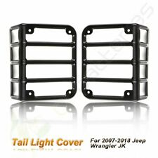 Tail Light Guards Cover Rear Lamps Trim Cover For 2007 2016 Jeep Wrangler Jk Max Fits Jeep
