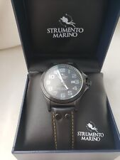STRUMENTO MARINO HARBOUR Collection Gentlemens Date Watch sm046lbk/bk