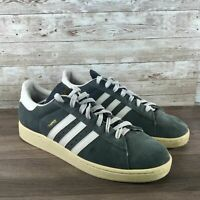 Adidas Campus 2 Mens Size 11.5 Gray Suede Low Top Retro Classic Sneakers