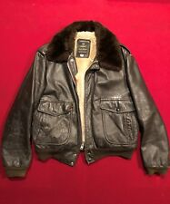 Bomber Jacket Brown Leather Air Force Issue Men's 44 Vintage Cooper Brand