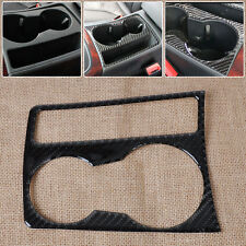 For 09-15 Audi A4 B8 A5 Interior Cup Holder Panel Decoration Frame Carbon Fiber