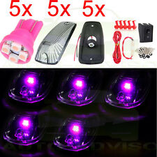 For Chevy 11516638 Cab Marker Light Smoke+ 3528-SMD Pink-purple 194 LED 5pcs Set