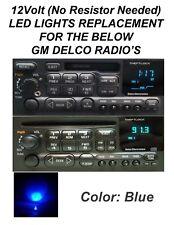 12V BLUE DELCO GM GMC CHEVY DISPLAY LIGHT LED BULBS FOR CD, CASS RADIO'S