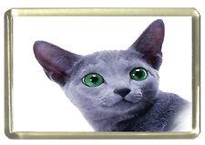 Russian Blue Cat Fridge Magnet
