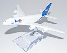 A380 AIRBUS FEDEX EXPRESS AIRLINES 16CM METAL PLANE MODEL DIECAST STAND DESKTOP