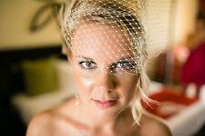 Ivory Wedding Veil,  Bandeau Bridal Veil,  French Net Veil, VIntage Style Veil