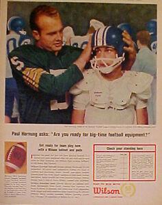 1964 Paul Hornung Packers Wilson Football Equipment Helmet Sports Memorabilia AD