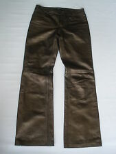 Theory Brown Leather Pants for Women  size US 4 HOT RARE