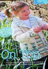 KNITTING PATTERN Rowan Girls Fair Isle Collared Jacket Cardigan Childrens MAKE