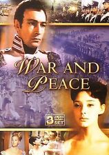 War and Peace (DVD, 2007, 3-Disc Set) Disks are great; box has major corner wear
