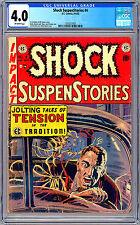 SHOCK SUSPENSTORIES #4 CGC 4.0 GAINES FELDSTEIN STORY WOOD ORLANDO ART EC 1952
