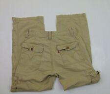 Levis Mens 30 x 30 Loose Straight Work Pants Beige Cargo Workwear Red Tab Cotton