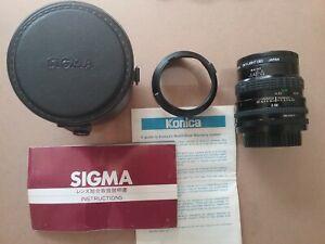 SIGMA (for KONICA) Mini-Wide II  28mm f/2.8  Lens    w/ Leather Case