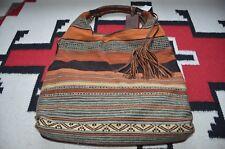 bf145712af Ralph Lauren Indian Serape   Leather Tote Hobo Bag