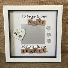 Remembrance Bereavement Pet Dog Cat Gift  Scrabble Personalised Photo Box Frame.