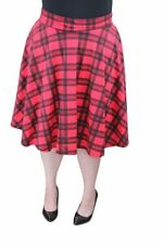Check Pleated, Kilt Casual Plus Size Skirts for Women