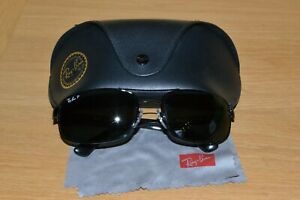 Genuine Black Ray-Ban RB 3445 Sunglasses; Polarised Lenses; 61x17; Case Cloth