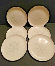 Set of 6 Taylor Smith Taylor Versatile Mid-Century BLUE TWIG Dinner Plates, 10""